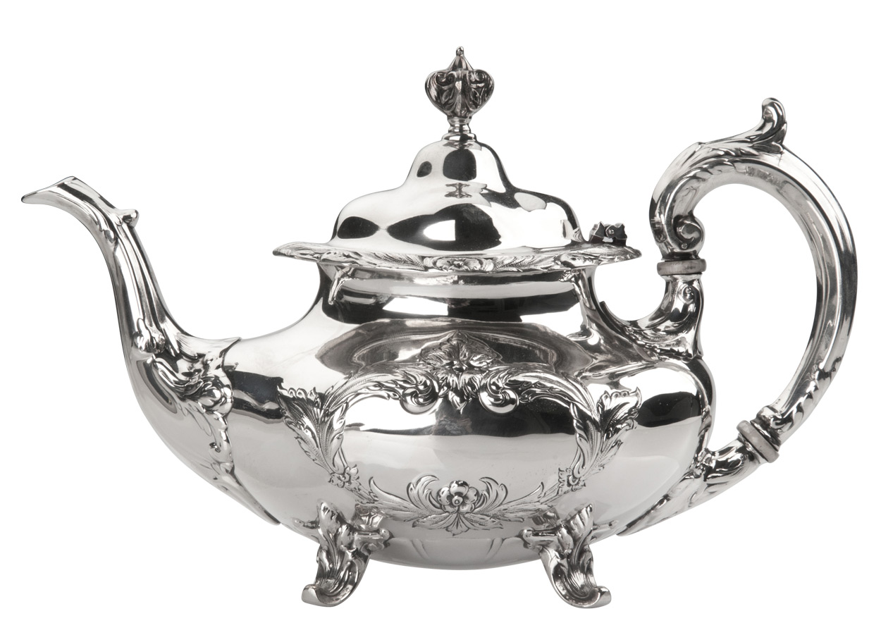 Burgundy Tea Pot Sterling Silver