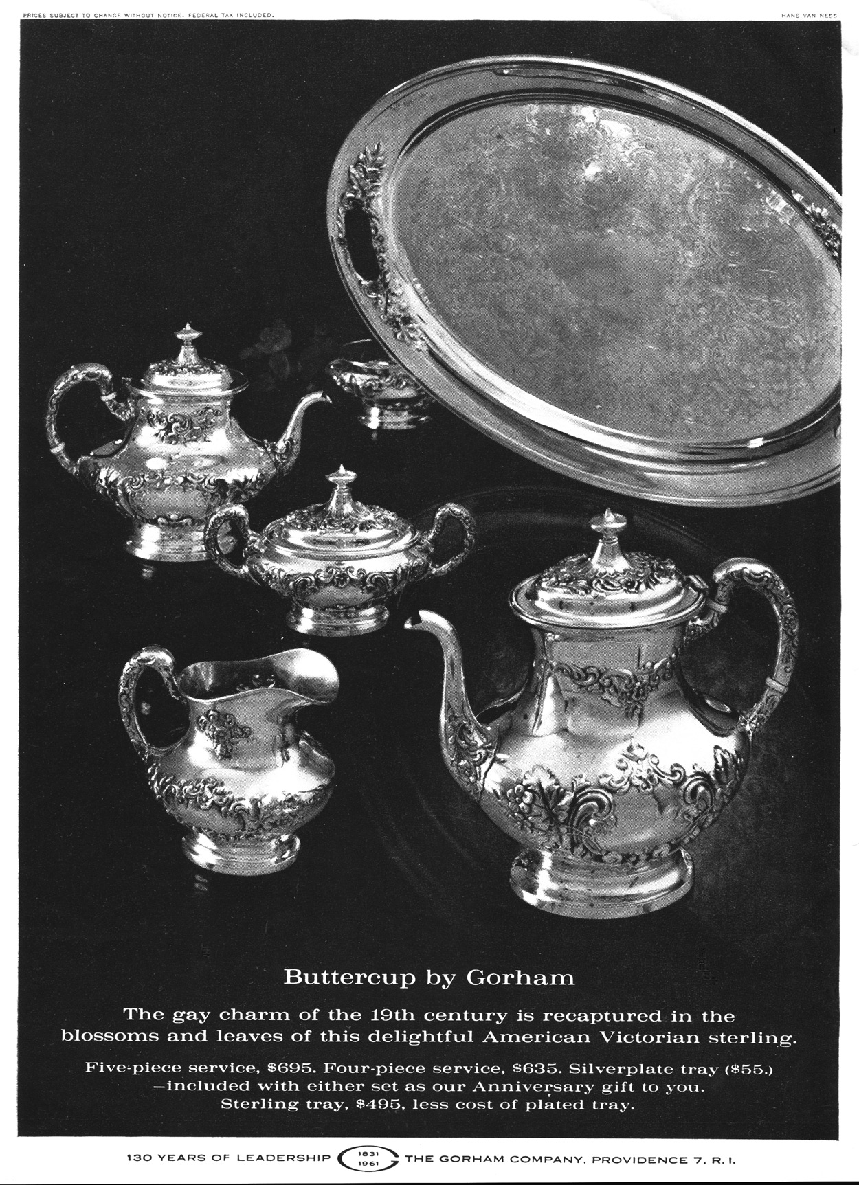 Gorham Buttercup 1961 Print Ad