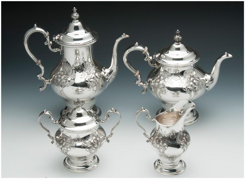 Gorham-Chantilly-4pc-Tea