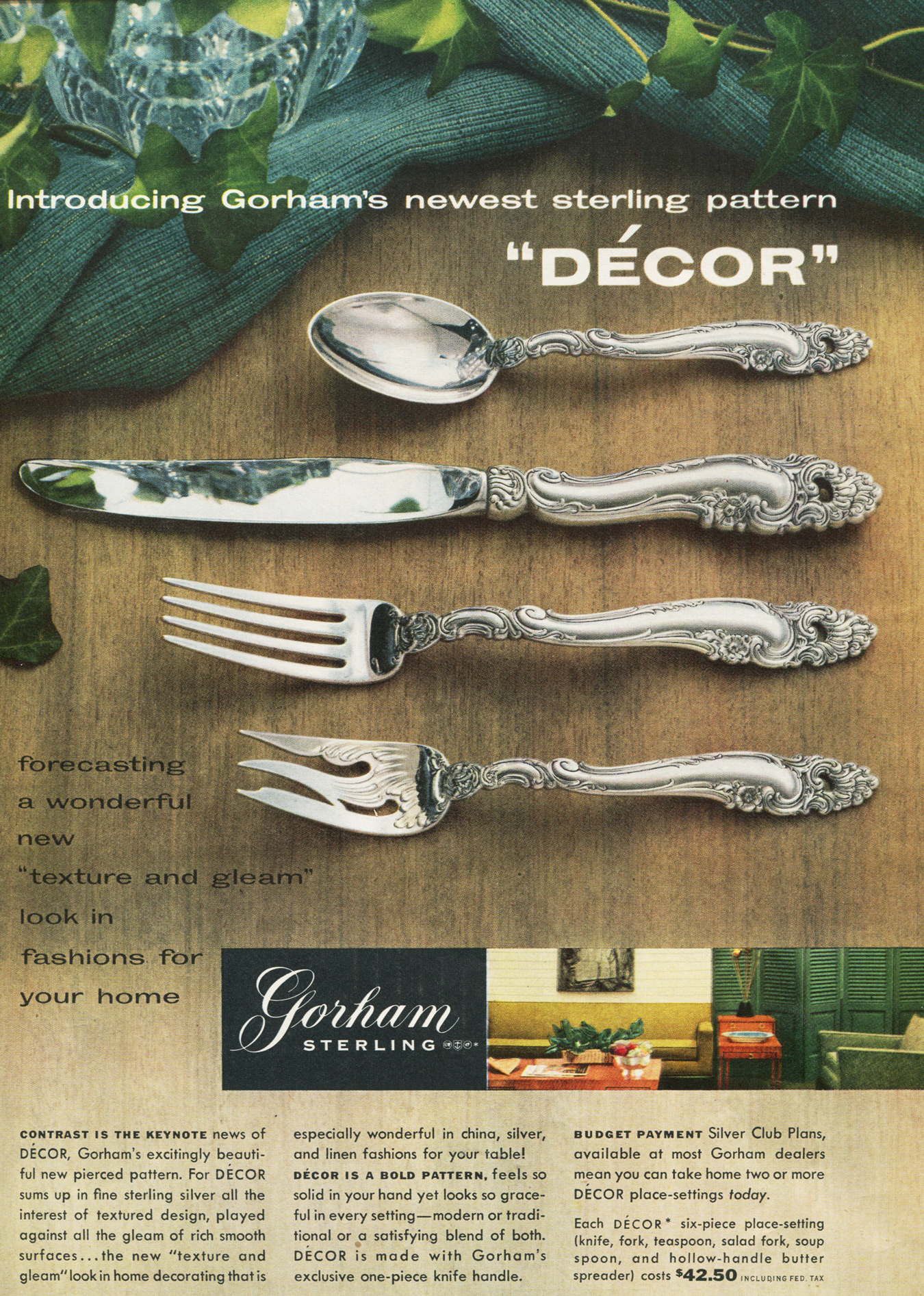 Decor 1950s advertisement