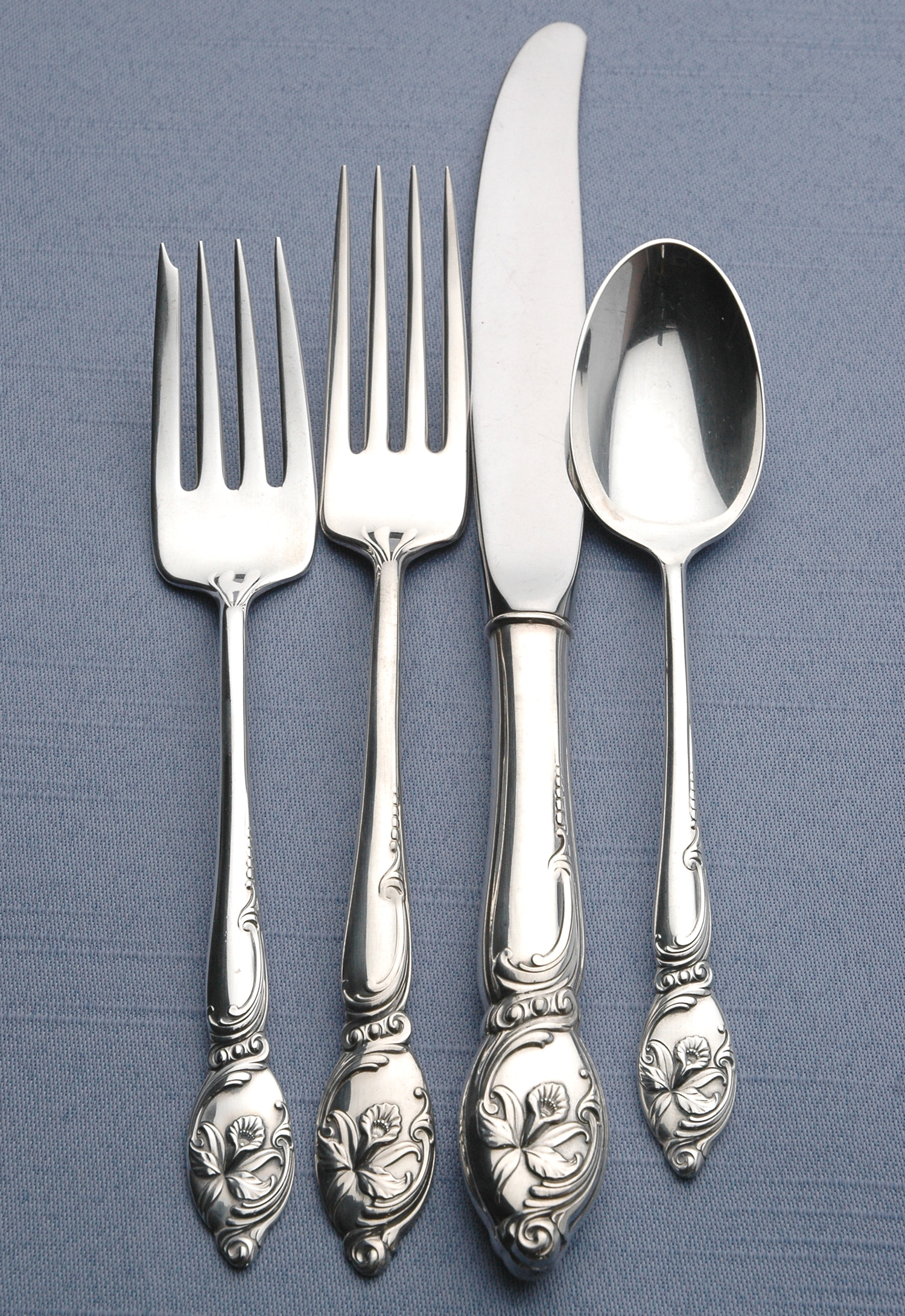 # Westmorland Enchanting Orchid Sterling Silver Four Piece Setting