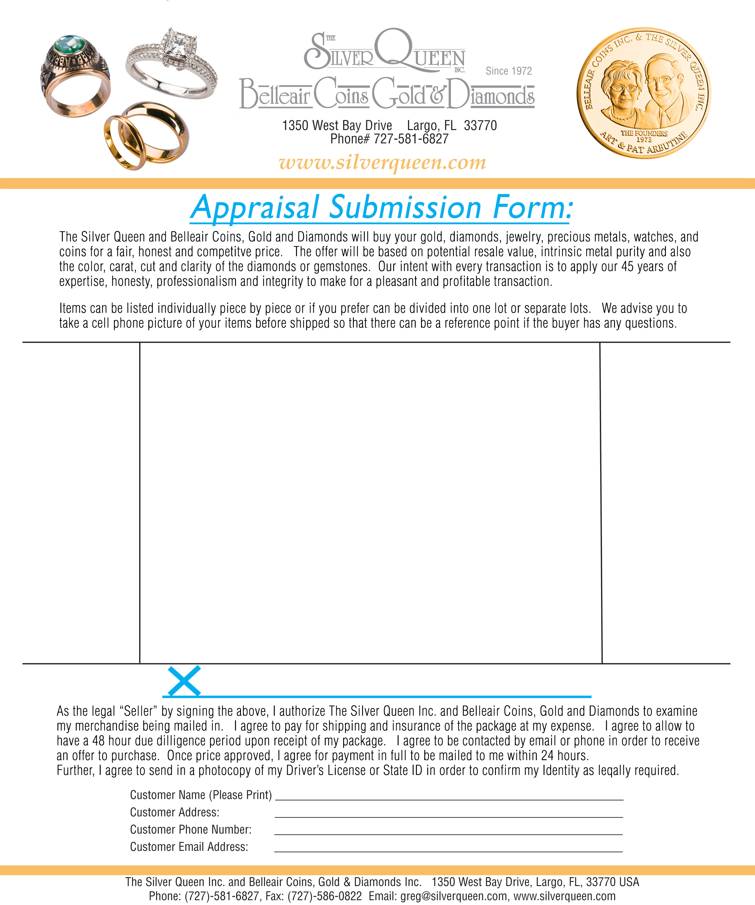 Sell Gold Form