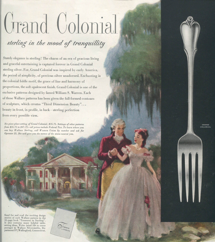 Grand Colonial 1953 Print Ad Silver