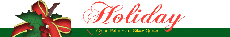 Holiday themed China patterns