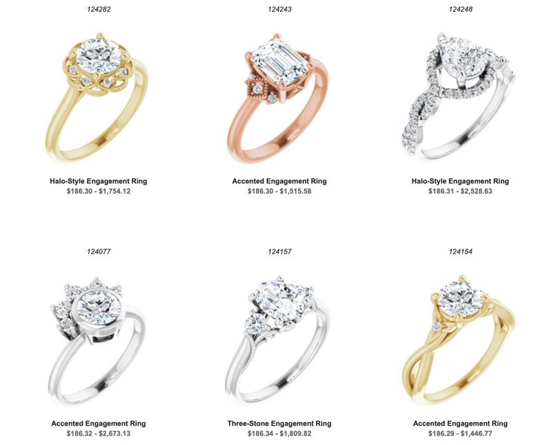 new styles engagement rings