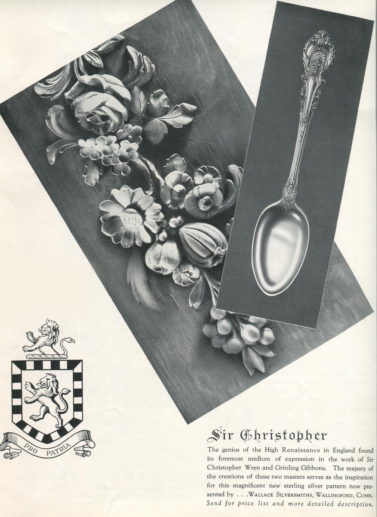 Sir Christopher 1936 ad