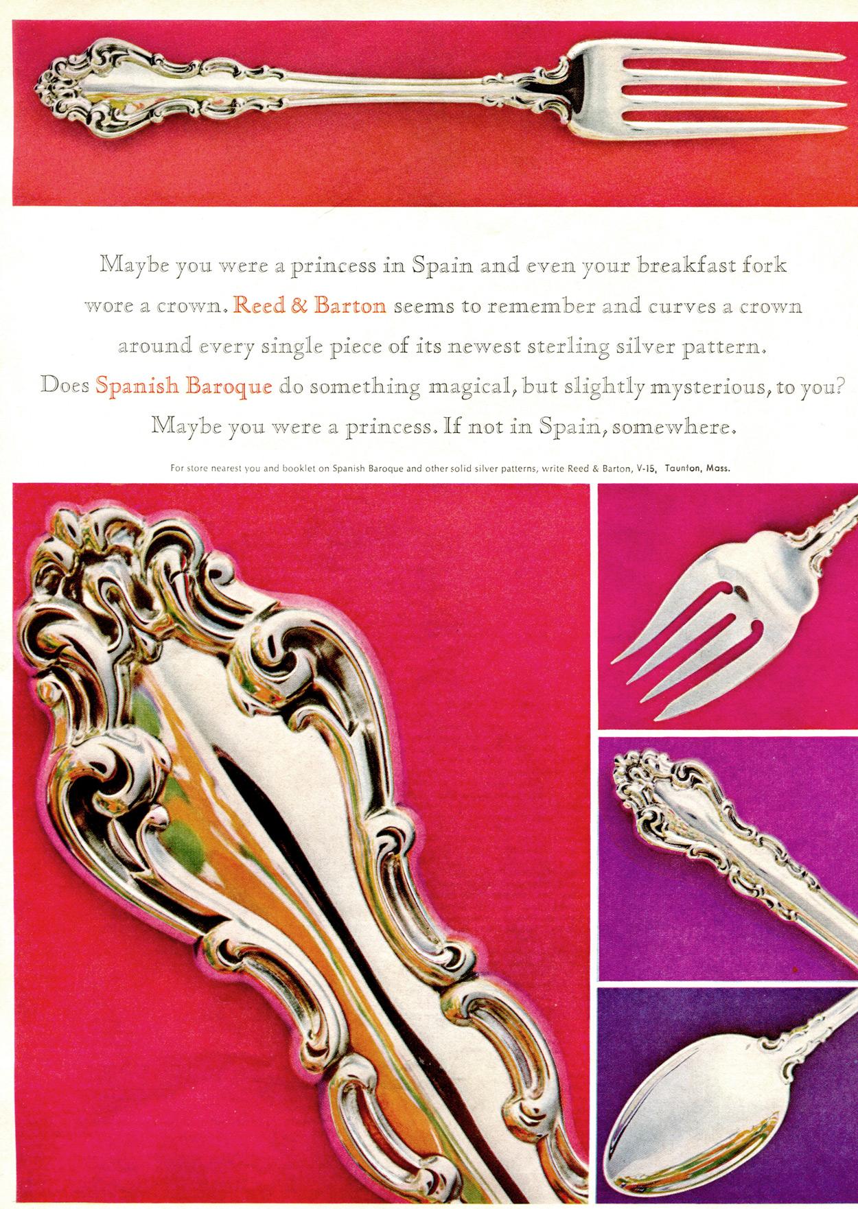 Spanish Baroque 1960s ad Silver
