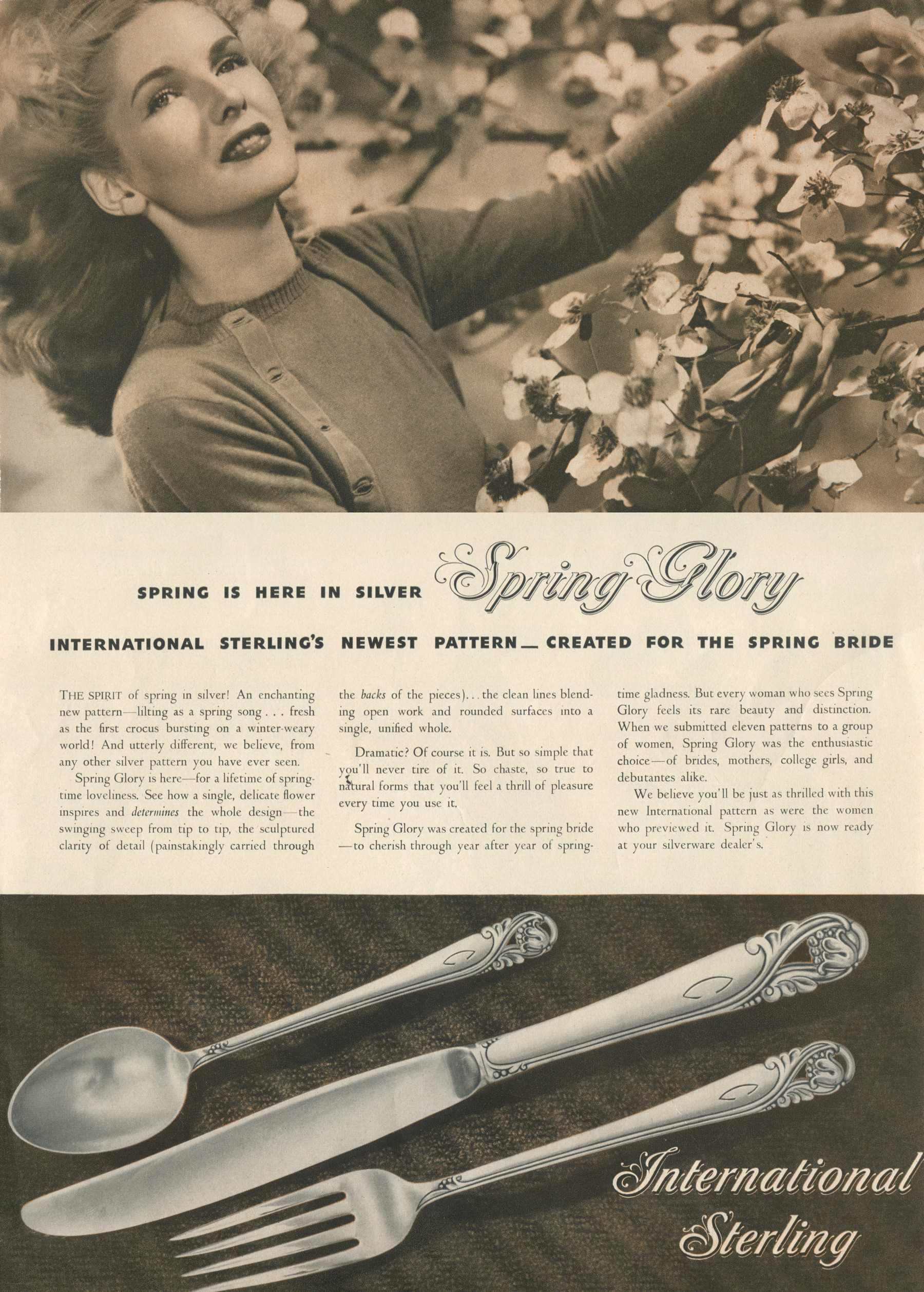 Spring Glory Print Ad 1940s Silver