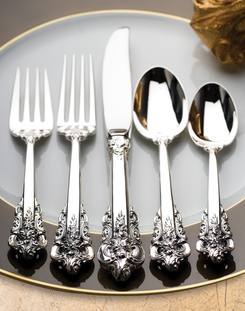Grande Baroque 5 piece setting sterling