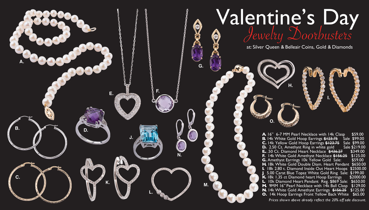 Valentine's Day Jewelry Doorbusters Page 1