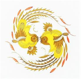 Picture of ORNATE DRAGON YELLOW by MEISSEN