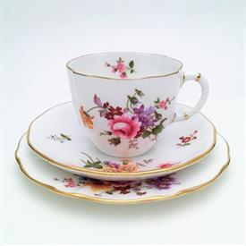 ,TEA TRIO. INCLUDES ONE TEA CUP, SAUCER, & BREAD PLATE.
