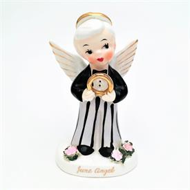 ",NAPCO 'JUNE' BIRTHDAY BOY ANGEL. 4.1"" TALL. MID-CENTURY"