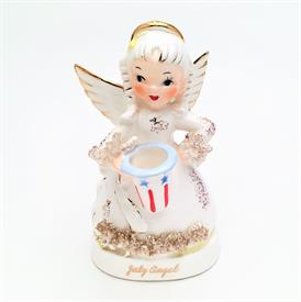 ",NAPCO 'JULY' BIRTHDAY ANGEL. MID-CENTURY. 4.4"" TALL"