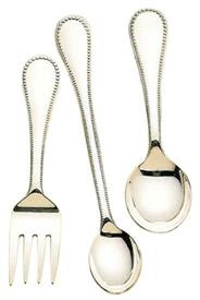_,$8061 CLASSIC BEAD 3PC. BABY SET FORK SPOON FEEDER STERLING