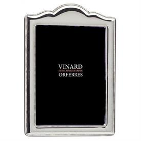 """-4X6"""" BEADED ANNIVERSARY FRAME. SILVER PLATE"""