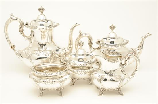 5 Piece TEA &COFFEE SET 101 TROY OUNCES sterling silver
