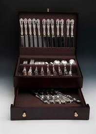 ,.79 Piece Set of Burgundy by Reed & Barton Sterling Silver Flatware Service for 12 includes silver chest  Was: $4,396