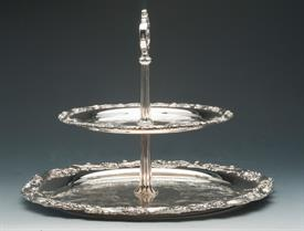 ,$#2 TIER SERVER SILVER PLATED