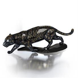 "_,#JAGUAR BLACK 6.5"" LONG 3"" IN HEIGHT  MIDNIGHT BLACK WITH GOLD SPOTS."