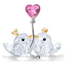 """-,LOVE BIRDS, PINK HEART. 2.6"""" TALL, 2.8"""" LONG, 1.2"""" DEEP"""