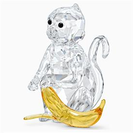 """-,MONKEY WITH BANANA FIGURINE FROM THE RARE ENCOUNTERS COLLECTION. 2.2"""" TALL, 1.5"""" WIDE, 1.6"""" DEEP"""