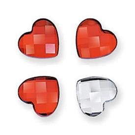 _,'MY LITTLE HEARTS' CRYSTAL MEMORIES SET OF 4 MAGNETS.