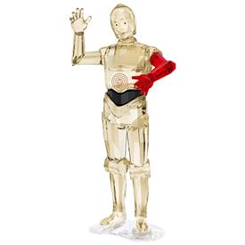 ",-'STAR WARS' C-3PO. 4.4"" TALL, 2.2"" WIDE, 1.8"" DEEP"