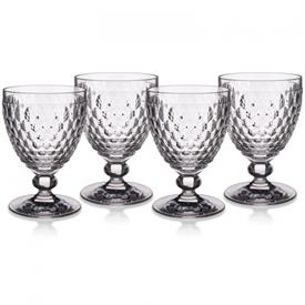 -SET OF 4 CLARET WINE GLASSES