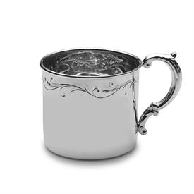 "-,$92FL STERLING FLORAL BABY CUP.2 1/4""IN HEIGHT X 2 9/16"" IN DIAMETER."