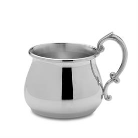 "-,$893 PEWTER POT BELLY BABY CUP 2.25""X 2 5/8""."