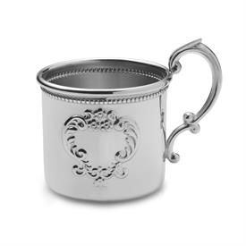 ,-$897 BEADED BABY CUP, PEWTER