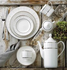 _,4-PIECE SAMPLE SETTING. INCLUDES DINNER PLATE, SALAD PLATE, TEA CUP & SAUCER
