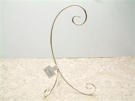 "-5"" SILVER PLATED 3 LEG PLATE STAND"