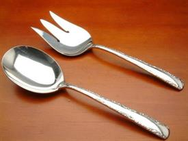 SALAD SET ALL SILVER