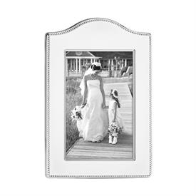 "-4X6"" LYNDON CURVED SILVERPLATE FRAME"