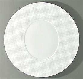 "-ROUND PLATE WITH OVAL CENTER. 12.6"" WIDE"