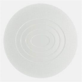 "-ROUND PLATE WITH CONCENTRIC OVALS CENTER. 12.6"" WIDE"