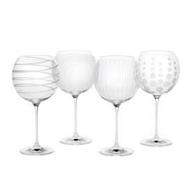 -CLEAR BALLOON WINE GLASS SET OF 4
