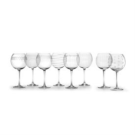 -CLEAR BALLOON WINE GLASS SET OF 8