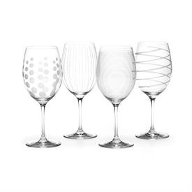 -CLEAR RED WINE GLASS, SET OF 4