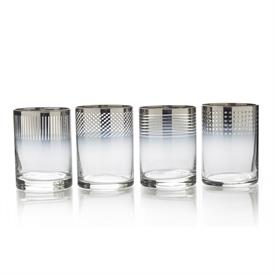 -OMBRE DOUBLE OLD FASHIONED GLASS, SET OF 4