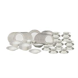 -65 PIECE SET. INCLUDES 12 (5 PIECE) PLACE SETTINGS & 5 SERVING PIECES. MSRP $1234.50
