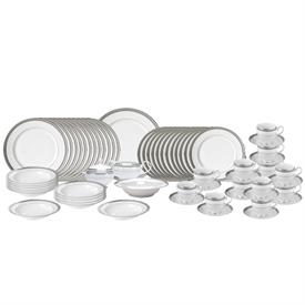 -65 PIECE SET. INCLUDES 12 (5 PIECE) PLACE SETTINGS & 5 SERVING PIECES. MSRP $1271.00