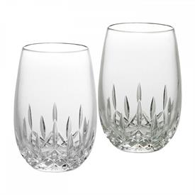 -SET OF 2 STEMLESS WHITE WINE GLASSES