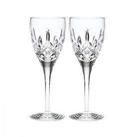 -SET OF 2 WHITE WINE GLASSES
