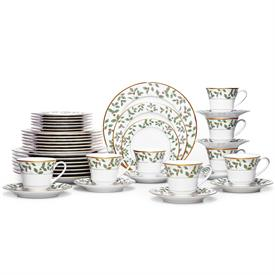 -40 PIECE SET. INCLUDES EIGHT 5 PIECE PLACE SETTINGS
