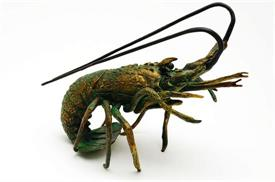 "-31649 NIGHT WALKER FLORIDA LOBSTER 10i IN LENGTH  8""WIDE BRASS"