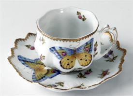 -RUFFLED TEA CUP & SAUCER