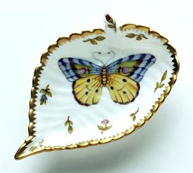 -PURPLE & YELLOW BUTTERFLY LEAF RING DISH
